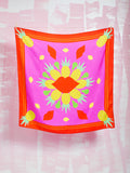 Silk Scarf  It's all about the Pineapple TUKUTUKUM TUKUTUKUM- Here Now