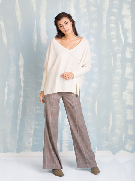 Pants Bonnie Plaid With Browns and Terracotta Stripes DEBY DEBO- Here Now
