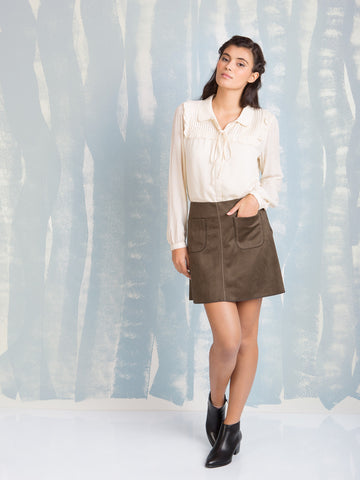 DEBY DEBO Leather Skirt DEBY DEBO- Here Now