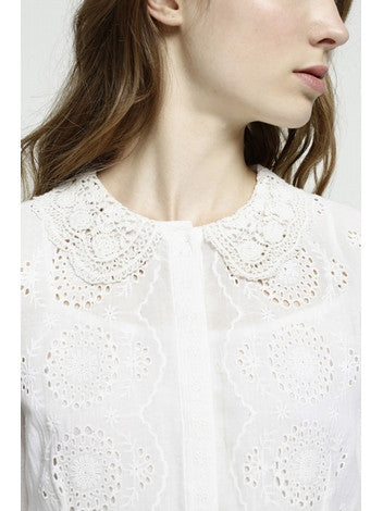 Dress White Embroidery With Long Sleeves Deby Debo DEBY DEBO- Here Now
