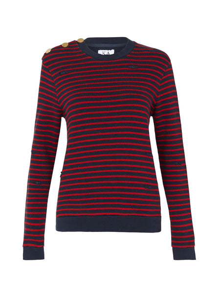 ZOE KARSSEN Loose Fit Sweat With Stripes Zoe Karssen- Here Now