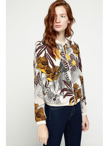 Floral Mania Bomber Jacket Womens Deby Debo DEBY DEBO- Here Now