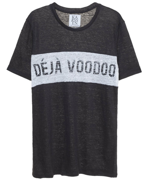 Zoe Karssen Sale T Shirt DÉJÀ VOODOO BOYFRIEND FIT TEE in Black Zoe Karssen- Here Now