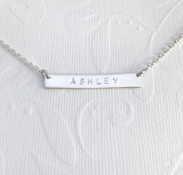 **NEW** ASHLEY bar necklace