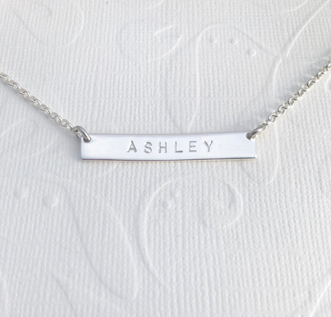 ASHLEY bar necklace
