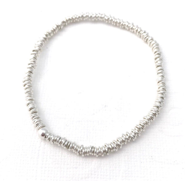 4 mm links Bead Bracelet