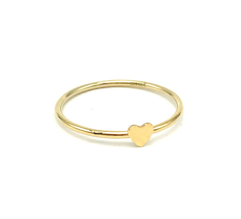 Heart Disc Stacking Ring
