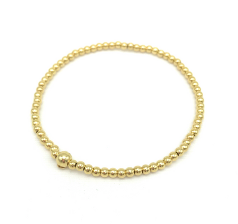 3 mm Gold Plated Ball Bracelet