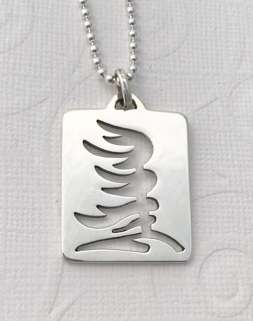 NARROW - WEST WIND PINE TREE pendant