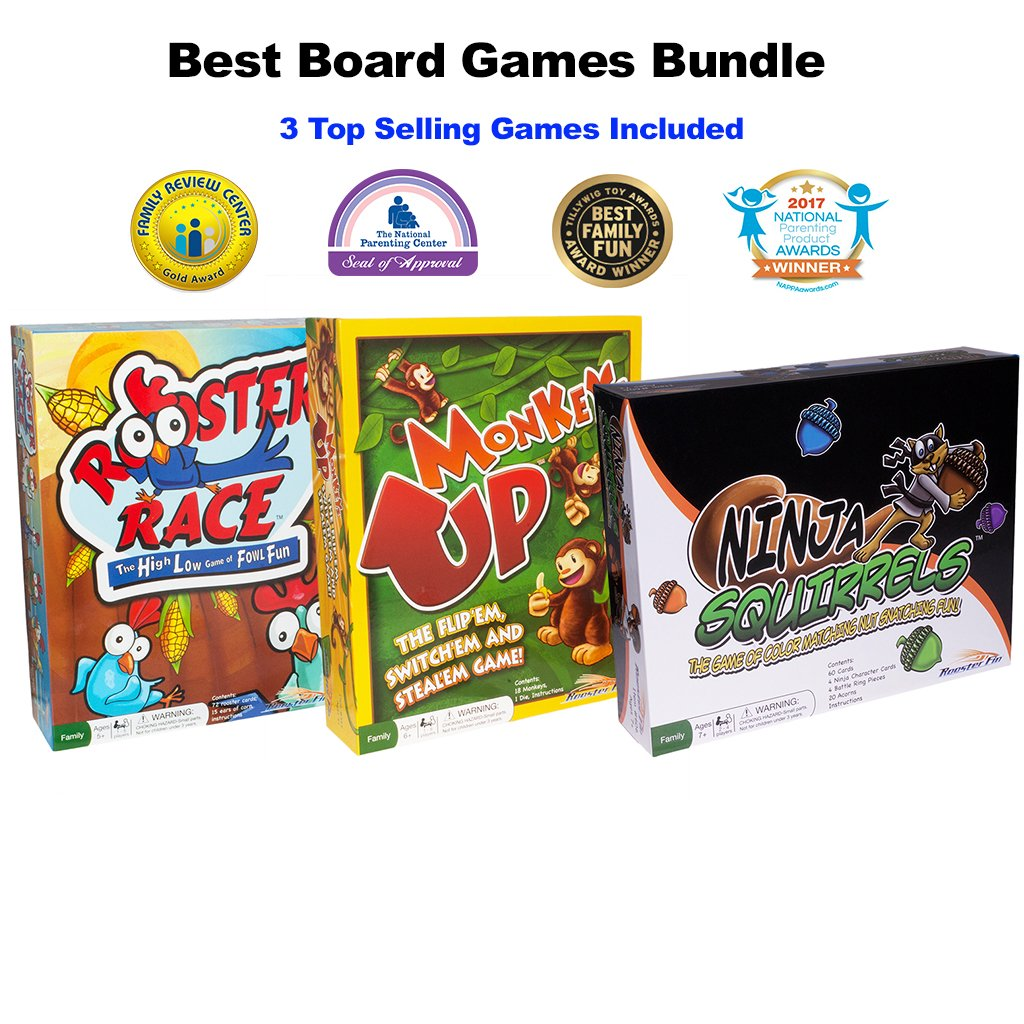 RoosterFin Games: Our Fun Family Board Games Bundle