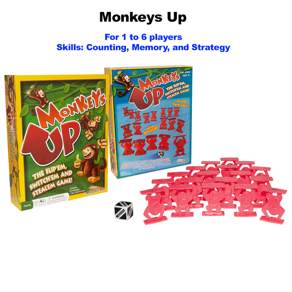 Monkeys Up Educational Board Game Pieces