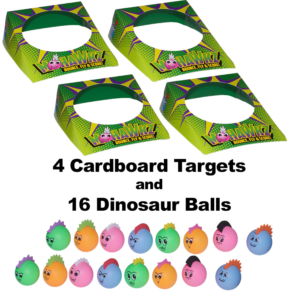 Mohawkz Dinosaur Ping Pong Gift Bundle Contents