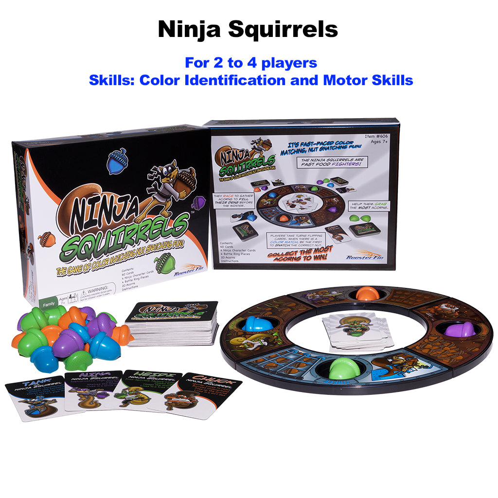 Ninja Squirrels Educational Board Game Pieces
