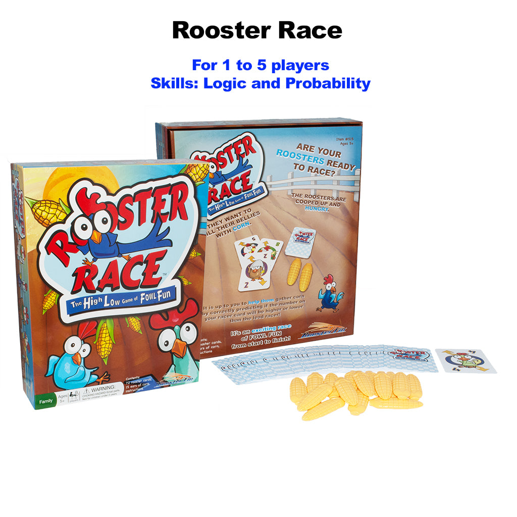 Family Fun Board Game Rooster Race Pieces