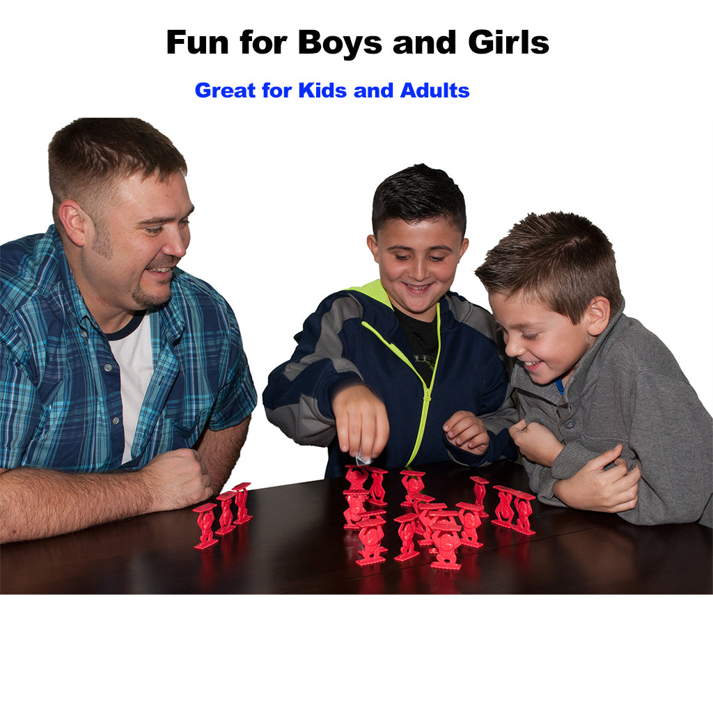 Father and Sons Playing Monkeys Up Board Game