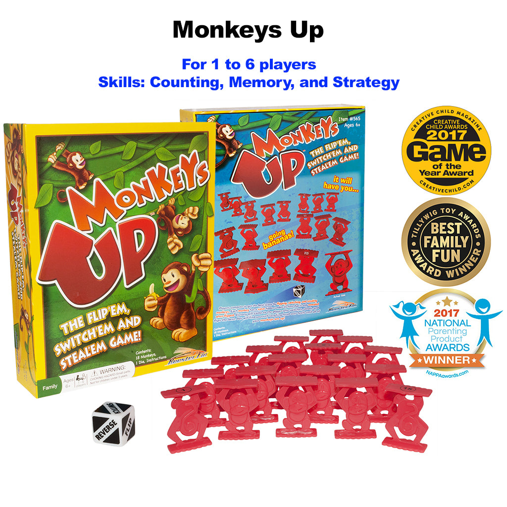 Monkeys Up Educational Board Game Contents