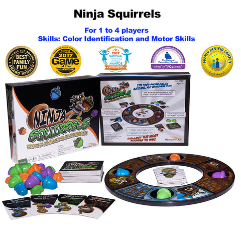Ninja Squirrels Award Winning Family Board Game