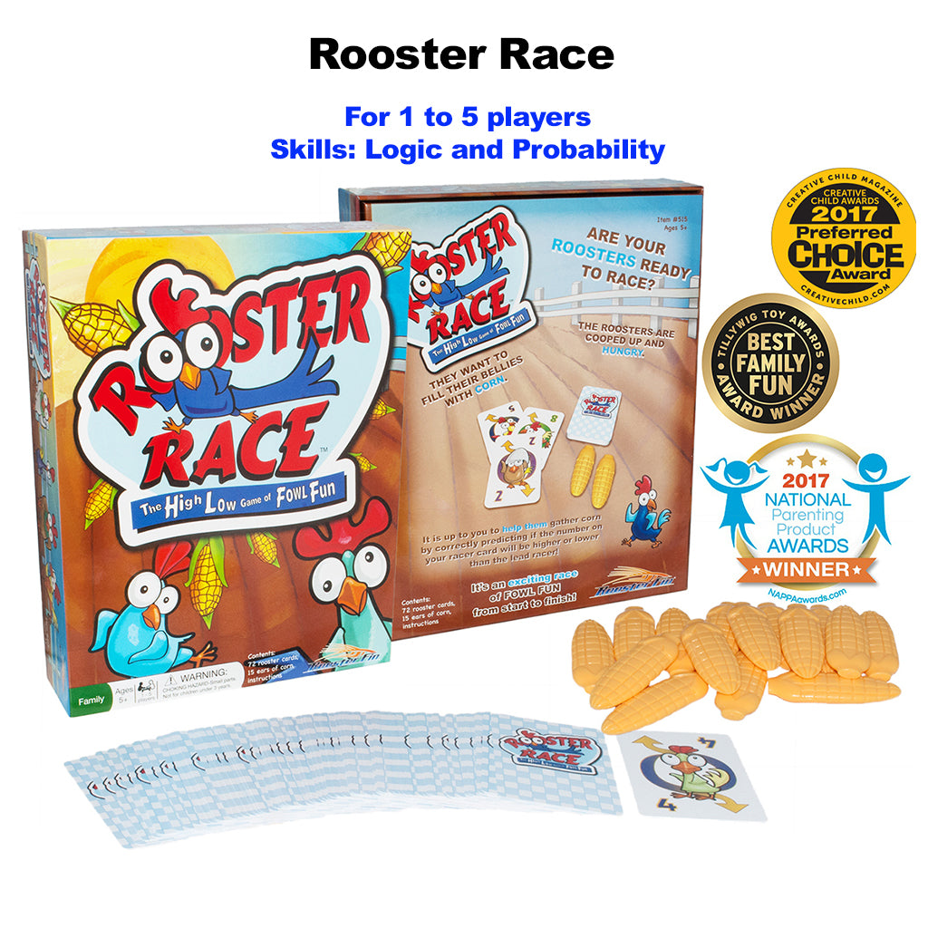 Rooster Race Educational Family Card Game Contents