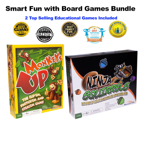 Smart Fun Monkeys Up and Ninja Squirrels Board Games