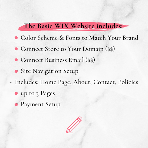 Basic Wix Website