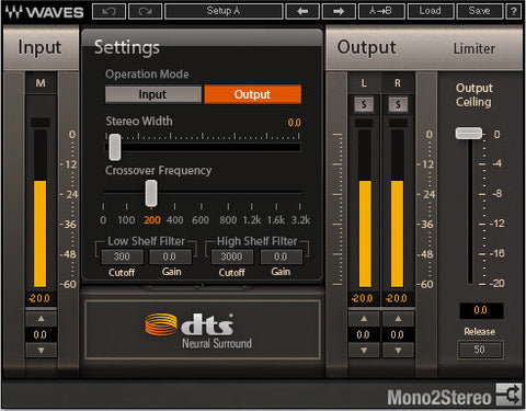 DTS Neural™ Mono2Stereo
