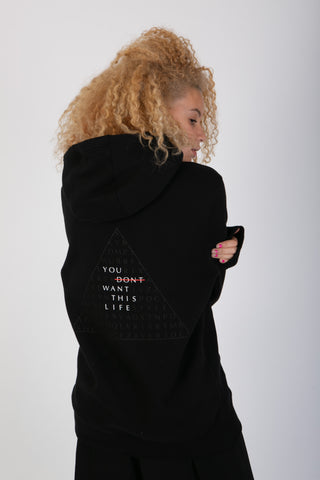Lifestyle Brand Womens Hoodie Crossword You Dont Want This Life