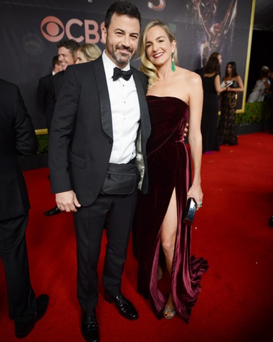 Jimmy Kimmel wears bum bag to red carpet event