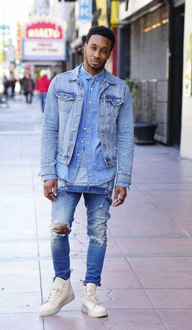 Streetwear Outfit with denim on denim on denim