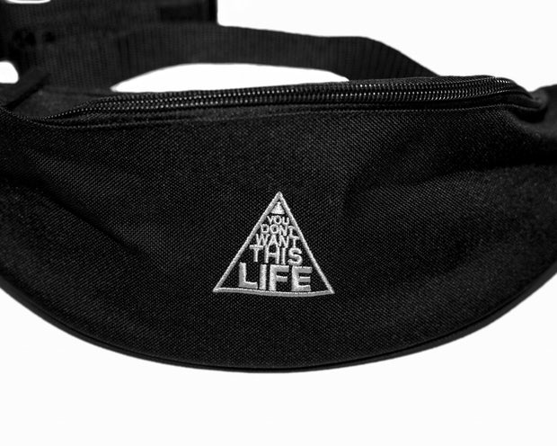 Original Bum Bag (Black) - You Dont Want This Life - UK Streetwear Brand - Streetwear Hoodies, High Street Fashion for Your London Streetwear Clothing Style