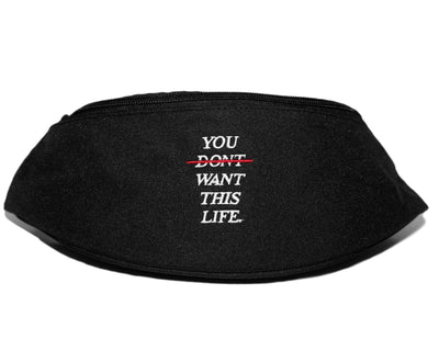Redline Black Bum Bag / Fanny Pack - You Dont Want This Life - UK Streetwear Brand - Streetwear Hoodies, High Street Fashion for Your London Streetwear Clothing Style