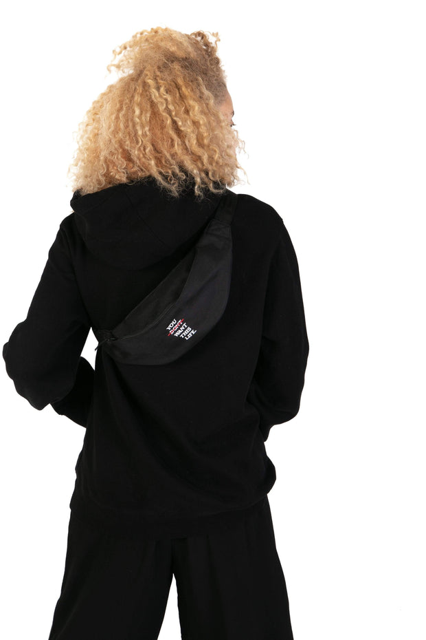 Redline Bum Bag (Black) - You Dont Want This Life - UK Streetwear Brand - Streetwear Hoodies, High Street Fashion for Your London Streetwear Clothing Style