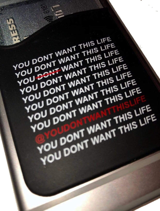 YDWTL Card Holder for Phone - You Dont Want This Life - UK Streetwear Brand - Streetwear Hoodies, High Street Fashion for Your London Streetwear Clothing Style