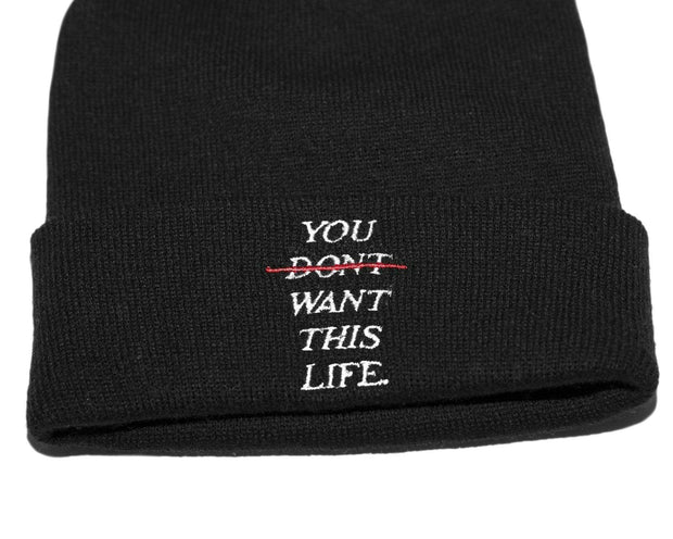 Redline Beanie - You Dont Want This Life - UK Streetwear Brand - Streetwear Hoodies, High Street Fashion for Your London Streetwear Clothing Style