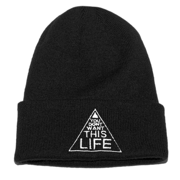 YDWTL Original Beanie - You Dont Want This Life - UK Streetwear Brand - Streetwear Hoodies, High Street Fashion for Your London Streetwear Clothing Style