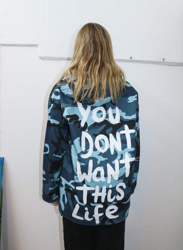 Blue Dreams Jacket - You Dont Want This Life - UK Streetwear Brand - Streetwear Hoodies, High Street Fashion for Your London Streetwear Clothing Style