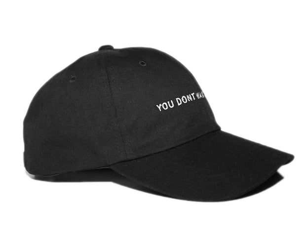 Text Black Dad Hat - You Dont Want This Life - UK Streetwear Brand - Streetwear Hoodies, High Street Fashion for Your London Streetwear Clothing Style