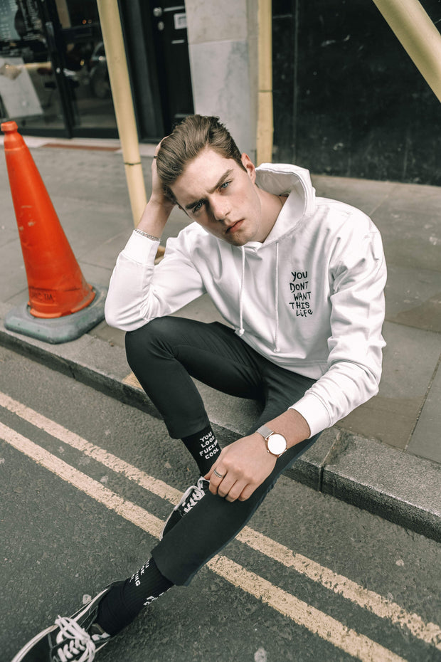 Painter Hoodie - You Dont Want This Life - UK Streetwear Brand - Streetwear Hoodies, High Street Fashion for Your London Streetwear Clothing Style