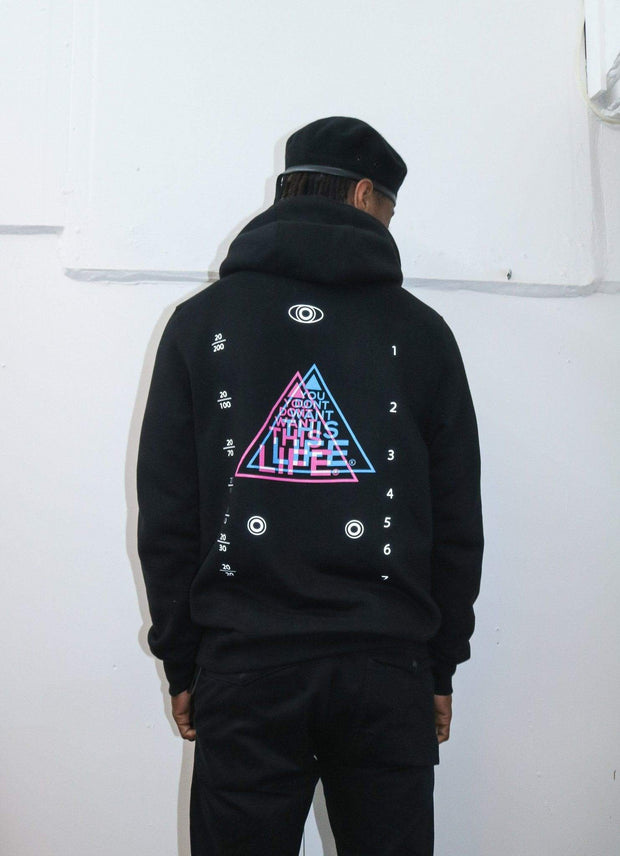 Perspective Hoodie (Reflective) - You Dont Want This Life - UK Streetwear Brand - Streetwear Hoodies, High Street Fashion for Your London Streetwear Clothing Style