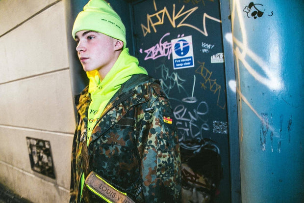 Limited Edition Neon Yellow Redline Hoodie - You Dont Want This Life - UK Streetwear Brand - Streetwear Hoodies, High Street Fashion for Your London Streetwear Clothing Style