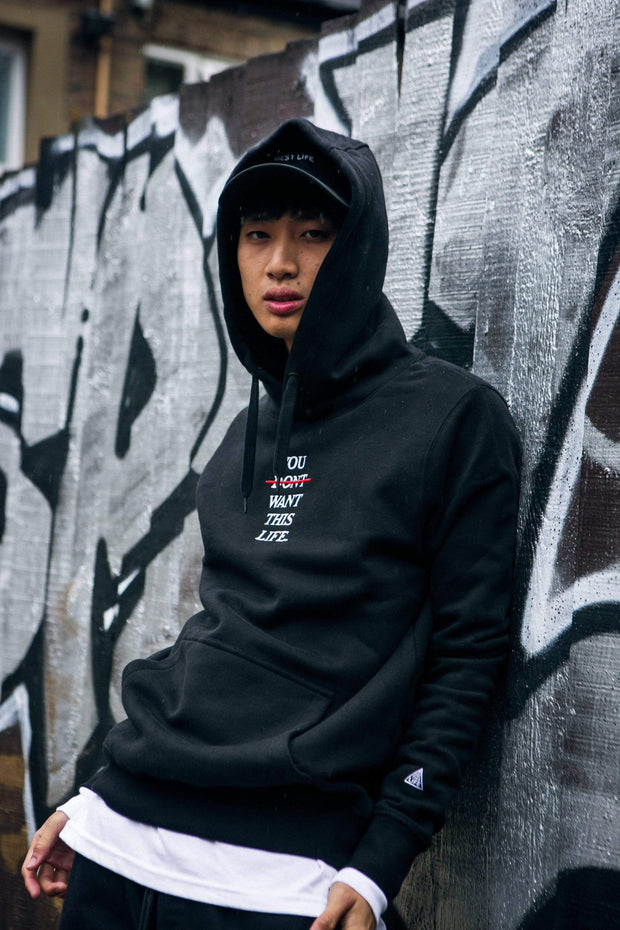 Redline Hoodie - You Dont Want This Life - UK Streetwear Brand - Streetwear Hoodies, High Street Fashion for Your London Streetwear Clothing Style