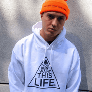 Men's Original Hoodie - You Dont Want This Life - UK Streetwear Brand - Streetwear Hoodies, High Street Fashion for Your London Streetwear Clothing Style