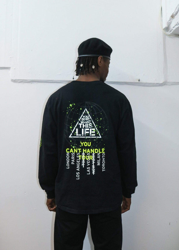 You Cant Handle Tour Long Tee (Reflective) - You Dont Want This Life - UK Streetwear Brand - Streetwear Hoodies, High Street Fashion for Your London Streetwear Clothing Style