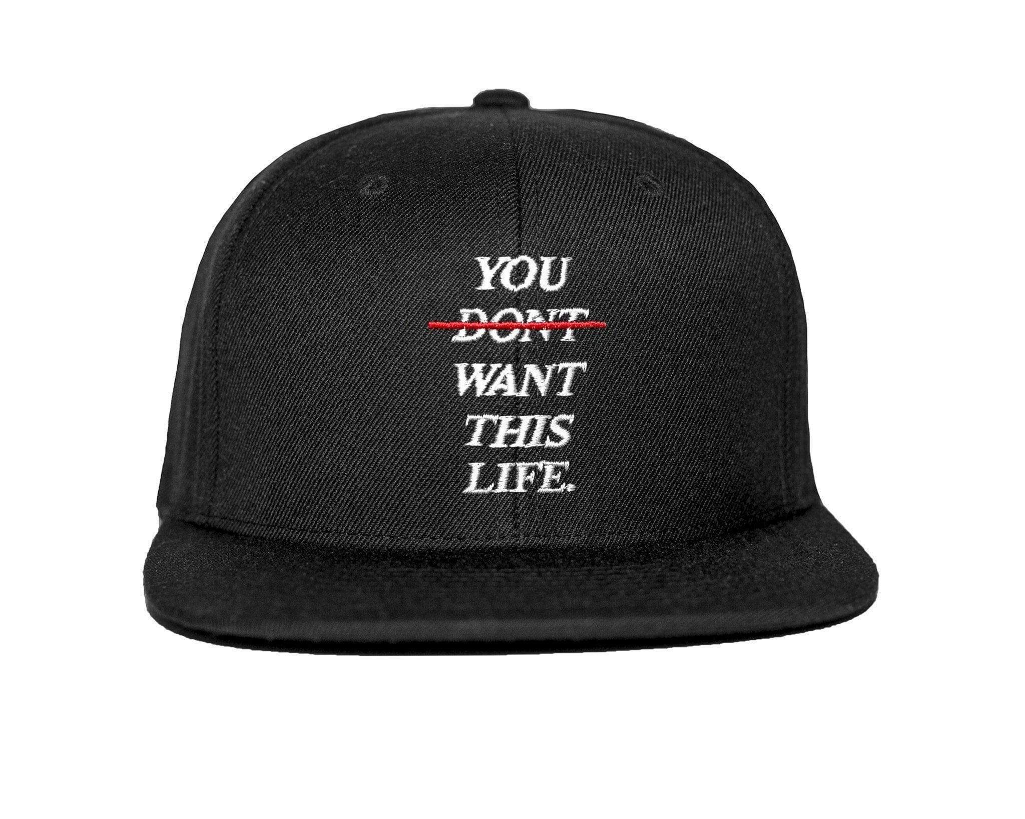 affbf186069 You Dont Want This Life Redline Hat - Shop Best Snapback Hats - YDWTL