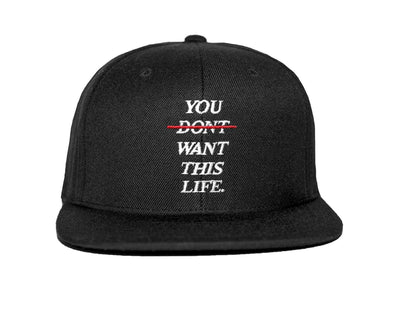Redline Snapback - You Dont Want This Life - UK Streetwear Brand - Streetwear Hoodies, High Street Fashion for Your London Streetwear Clothing Style