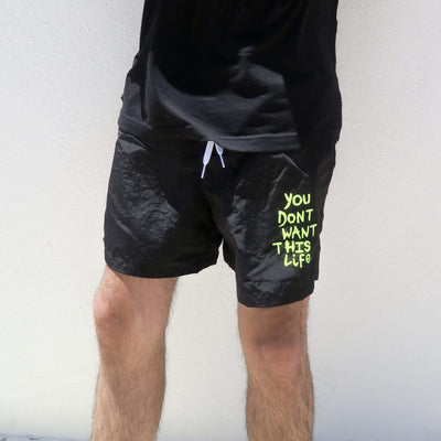 Neon Painter Swim Shorts - You Dont Want This Life - UK Streetwear Brand - Streetwear Hoodies, High Street Fashion for Your London Streetwear Clothing Style