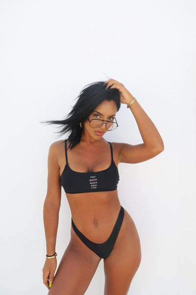 YDWTL Redline Bikini Top - You Dont Want This Life - UK Streetwear Brand - Streetwear Hoodies, High Street Fashion for Your London Streetwear Clothing Style