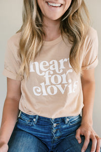 AVAILABLE NOW! Heart for Clovis Tee in Light Sunset