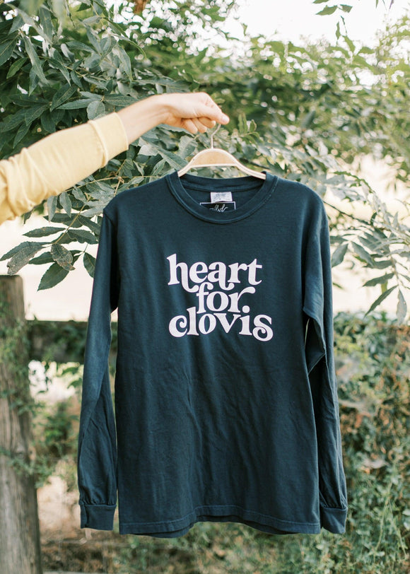 Heart for Clovis Long Sleeve in Pure Black