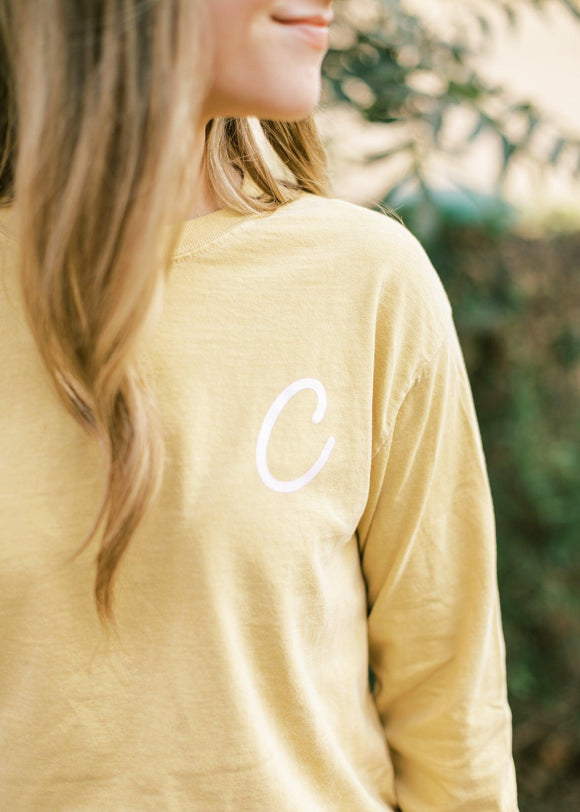 Heart for Clovis Long Sleeve in Mustard