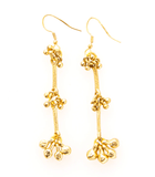 Ink + Alloy - Brass Trio Cluster Dangle Earring